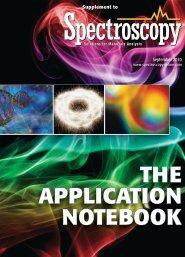 THE APPLICATION NOTEBOOK - Spectroscopy