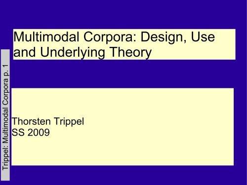 Introduction - Computational Linguistics and Spoken Language - U ...