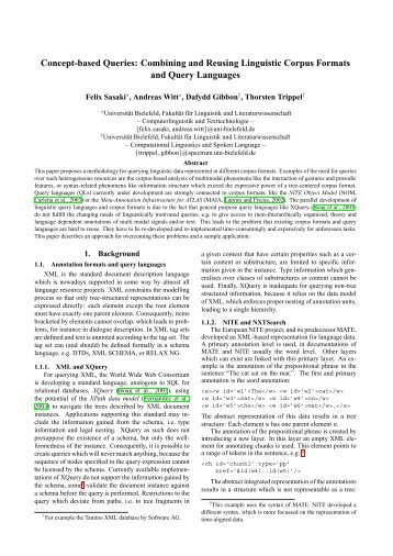 Concept-based Queries - Computational Linguistics and Spoken ...