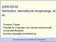 Derivational Morphology - Computational Linguistics and Spoken ...