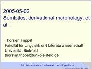 Derivational Morphology - Computational Linguistics and Spoken ...