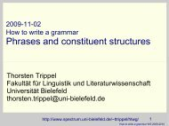 Phrases and constituent structures - Universität Bielefeld