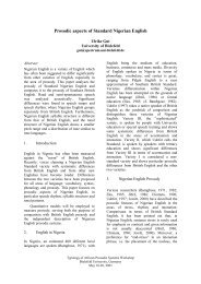 Prosodic aspects of Standard Nigerian English - Computational ...