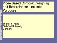 Video Based Corpora - Computational Linguistics and Spoken ...