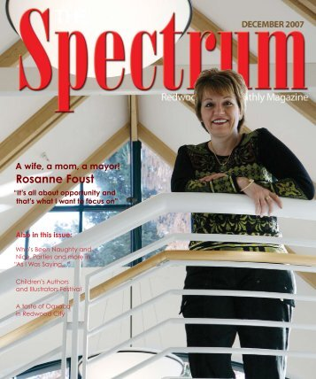 Rosanne Foust - The Spectrum Magazine - Redwood City's Monthly ...