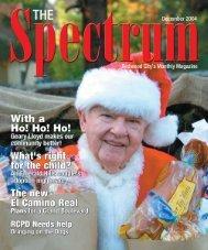December 2004 - The Spectrum Magazine - Redwood City's ...
