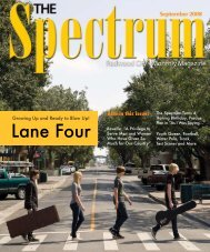 Also in this issue: - The Spectrum Magazine - Redwood City's ...