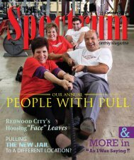 people with pull - The Spectrum Magazine - Redwood City's Monthly ...
