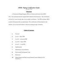 SPED Piping Certification Guide - Society of Piping Engineers and ...