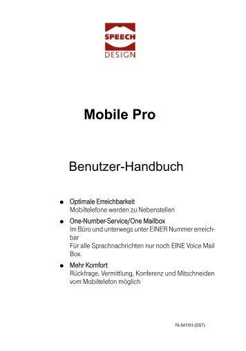 Benutzerhandbuch - Speech Design