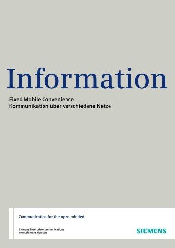 Fixed Mobile Convenience Kommunikation über ... - SPEECH DESIGN