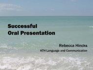Making an Oral Presentation - KTH