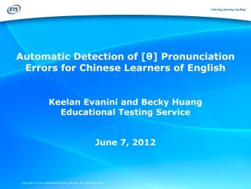 [th] Pronunciation Errors for Chinese Learners of English
