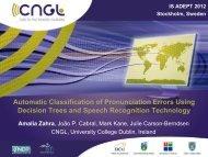 Automatic Classification of Pronunciation Errors Using Decision ...