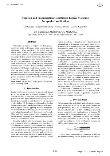 Duration and Pronunciation Conditioned Lexical Modeling for ...