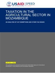 taxation in the agricultural sector in mozambique - CTA
