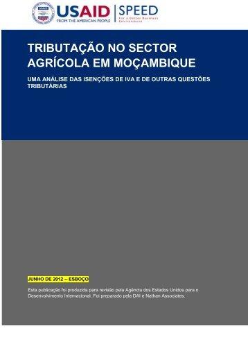 TRIBUTAÇÃO NO SECTOR AGRÍCOLA EM MOÇAMBIQUE