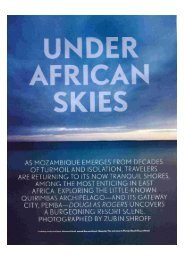 October 2005 Travel & Leisure Article on Mozambique