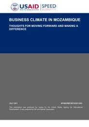 BUSINESS CLIMATE IN MOZAMBIQUE - tipmoz