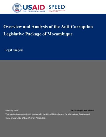 Overview and Analysis of the Anti-Corruption Legislative Package of ...