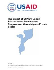 Cost Benefit Analysis of USAID Intervention on Mozambique - tipmoz