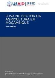 o iva no sector da agricultura em moçambique - Support Program for ...