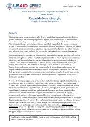 Capacidade de Absorção:1 - Support Program for Economic and ...