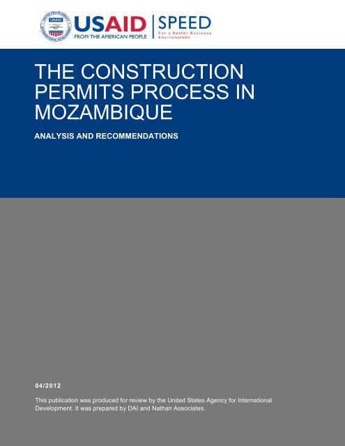the construction permits process in mozambique - Support Program ...