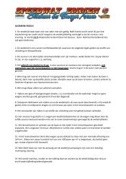 Algemene regels ASE - Speedway Emmen