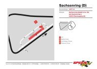 Infos Infrastruktur & Fahrerlagerplan (pdf) - Speer Racing