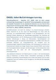 ENGEL liefert MuCell-Anlagen turn-key - Engel Austria