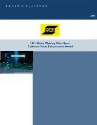 2011 Global Welding Filler Metals Customer Value Enhancement ...