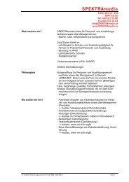 Vorlage Stellenbeschreibung - SPEKTRAmedia
