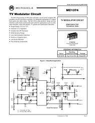 MC1374 TV Modulator Circuit