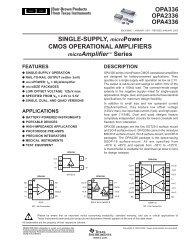 OPA336, 2336, 4336: Single-Supply, microPower ... - SP-Elektroniikka