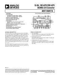 AD977/AD977A 16-Bit, 100 kSPS/200 kSPS ... - Analog Devices