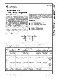 LM2940/LM2940C 1A Low Dropout Regulator