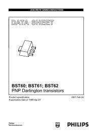 BST60; BST61; BST62 PNP Darlington transistors - SP-Elektroniikka