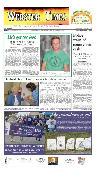 The Webster Times Southbridge Evening News