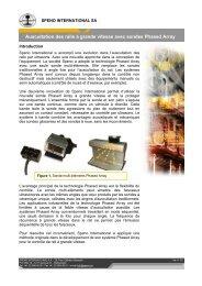 Auscultation des rails à grande vitesse avec sondes Phased Array