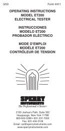 operating instructions model et200 electrical tester instrucciones ...