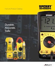 Download the PDF Catalog - Sperry Instruments