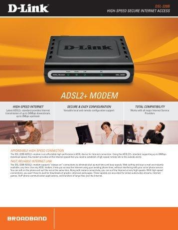 ADSL2+ MoDeM - D-Link