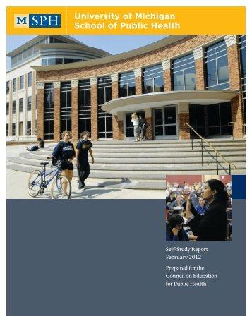 Final Self-study Report - University of Michigan School of Public ...