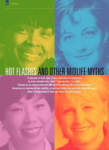 Menopause Article - University of Michigan School of Public Health