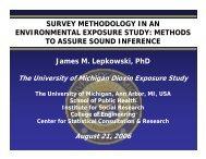 Survey Methodology in an Environmental Exposure Study