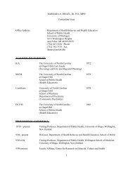Curriculum Vitae - University of Michigan School of Public Health
