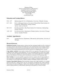 Education and Training History Academic Appointments Research ...