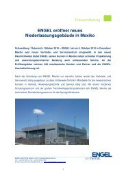 ENGEL eröffnet neues Niederlassungsgebäude in ... - Engel Austria