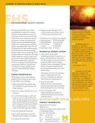 EHS Brochure - University of Michigan School of Public Health